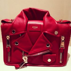 Moschino red Jacket bag